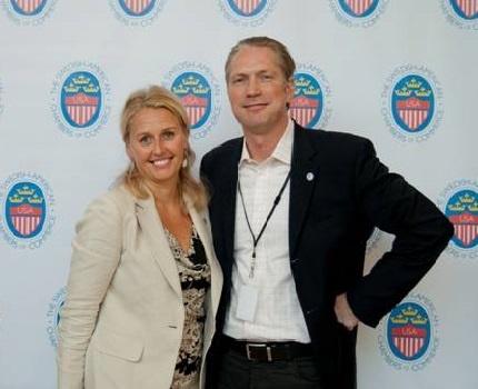 Therese Linde (President SACC-USA) and Henrik Johansson (VP SACC-Austin)