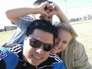 Johanna with her husband Rodrigo and son Erik