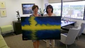 Astrid Marklund (left) with Leona Pettersson at the Swedish Consulate in Houston.